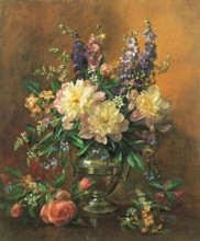 Garden Flowers poster print by Albert Williams