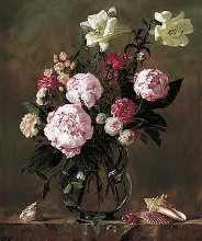 Peonies With Roses And Sweet Peas poster print by Joe Anna Arnett