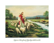 Jesus The Shepherd (Verse) poster print by Myung Bo