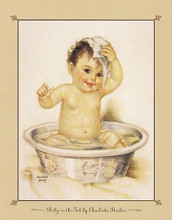 Baby In The Tub poster print by  Unknown