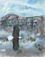 Eagle - Mount Rushmore poster print by Ron Jenkins