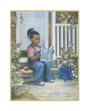 Girl With Book poster print by Beverly Lopez