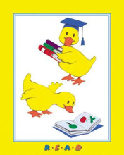 Ducks - Reading poster print by Beverly Lopez