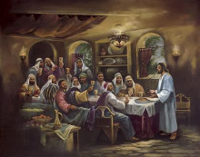 Black Last Supper poster print
