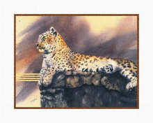 Lounging Leopard poster print by Nancy Azneer