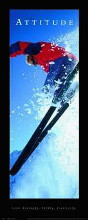 Attitude-Skier poster print by  Motivational