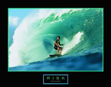 Risk-Surfer poster print by  Unknown