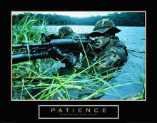 Patience - Military Man poster print