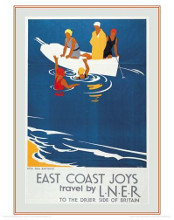 Sea Bathing poster print by Tom Purvis