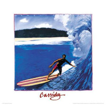 Banzai Pipeline poster print by Michael Cassidy