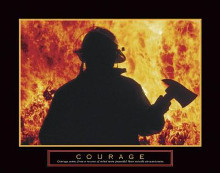Courage - Fireman With Axe poster print by  Unknown
