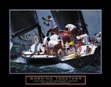 Working Together - Sailors poster print by  Unknown