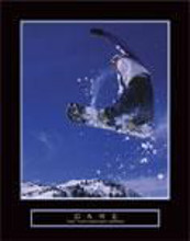 Dare - Snowboarder poster print by  Unknown
