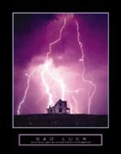 Bad Luck - Lightning poster print by  Unknown