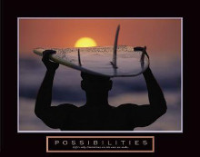 Possibilities - Surfer poster print by  Unknown