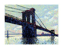 Brooklyn Bridge poster print by Neil Waldman