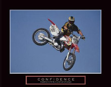 Confidence - Motorbiker poster print by  Unknown