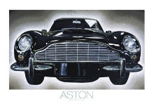 Aston poster print by Brendan Dooley