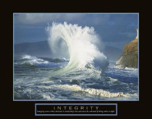 Integrity - Wave poster print by Craig Tuttle