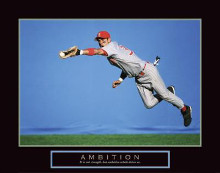 Ambition - Baseball Player poster print by  Unknown