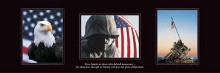 American Soldier poster print by  Motivational