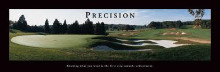 Precision - Golf poster print by Bruce Curtis