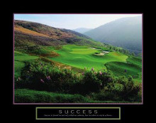 Success - Golf Course In Hills poster print by  Motivational