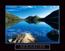 Dedication - Jordan Pond poster print by Dermot Conlan