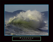Purpose - Wave poster print by Michelle Mara