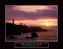 Direction - Lighthouse poster print