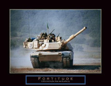 Fortitude - Tank On The Move poster print by Jerry Angelica