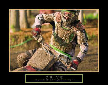 Drive - Motocross poster print by Jerry Angelica