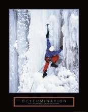 Determination - Ice Climber poster print by  Unknown