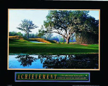 Achievement-Golf poster print by  Unknown