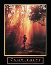 Commitment-Runner poster print by  Unknown