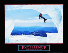 Excellence-Snow Climber poster print by  Unknown