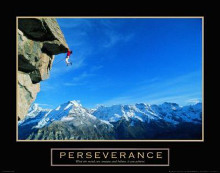 Perseverance-Cliffhanger poster print by  Unknown
