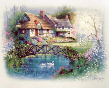 Coutnry Cottages poster print