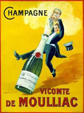 Champagne Vicomte De Moulliac poster print by Norman Rockwell