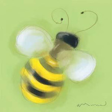 Bee On Green poster print by Anthony Morrow