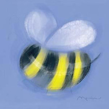 Bee On Blue poster print by Anthony Morrow