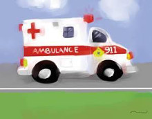 Ambulance poster print by Anthony Morrow