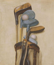 Golf Bag With Two Balls poster print by Jose Gomez