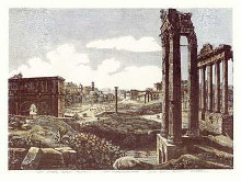 Views of Rome (Landscape) {H} poster print by Luigi Rossini