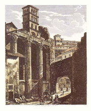 Views of Rome (Large Portrait) {H} poster print by Luigi Rossini