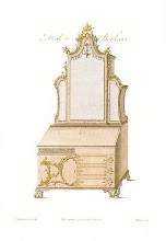 Desks Bookcases {H} poster print by Thomas Chippendale