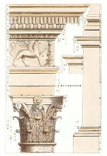 Corinthian Columns poster print by Andrea Palladio
