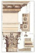 Corinthian Columns (H) poster print by Andrea Palladio
