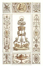 Panel Decorations {H} poster print by Michelangelo Pergolesi