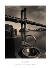 Manhattan Bridge 1993 poster print by Tom Baril